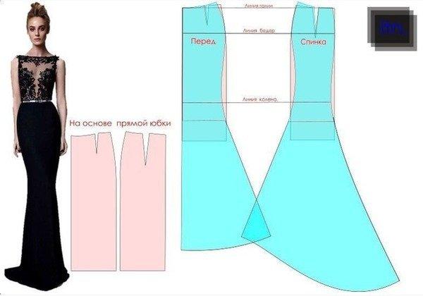 Изображение Схема Вечернего Платья